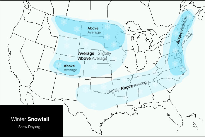 Average Snowfall by State