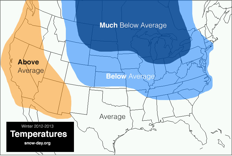 Winter Forecast 2012-2013 – Second Update